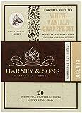 Harney & Sons White Tea, Vanilla Grapefruit, 20 Sachets (Pack of 6)