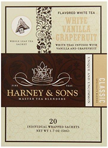 (Harney & Sons White Tea, Vanilla Grapefruit, 20 Sachets (Pack of 6))