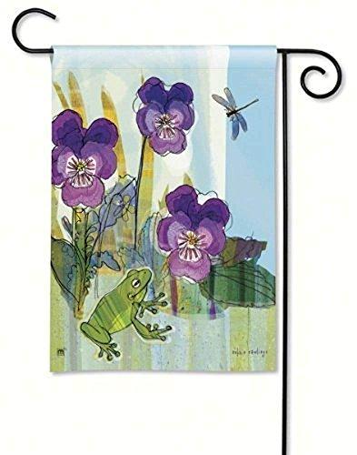 Beigehome Pansy Prince Garden Flag 32029 12 Inch X 18 ()