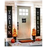 Halloween Decorations Hanging Trick or Treat Halloween Banner 3pc