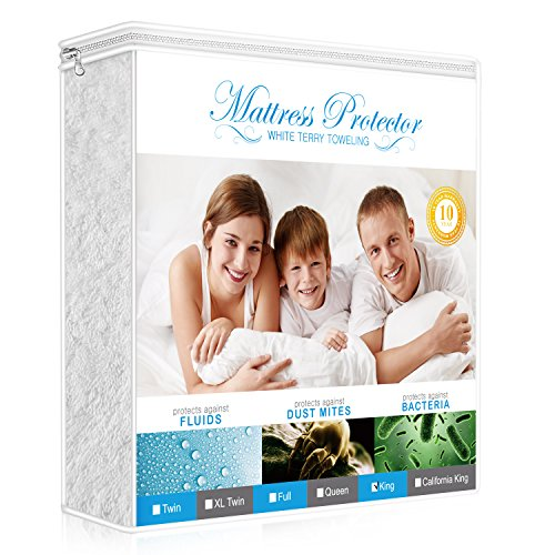 Learn More About Lighting Mall Premium King Mattress Protector, 100% Waterproof Hypoallergenic Mattr...