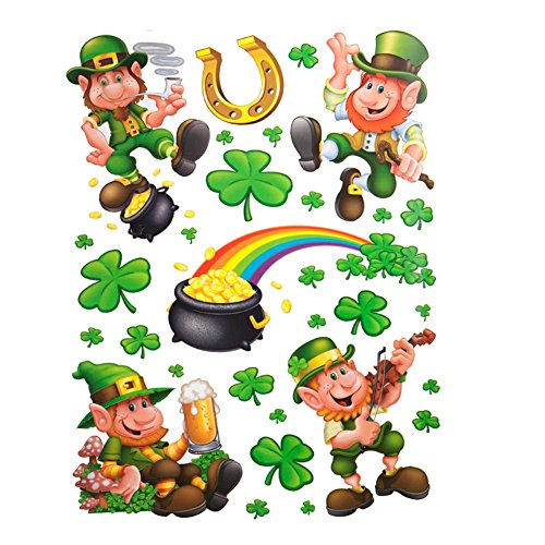 Leprechaun/Shamrock Clings Party Accessory (1 count) -