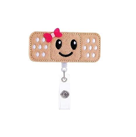 Amazon.com: Retractable Badge Reel, Nurse Bandaid Badge Reel ...