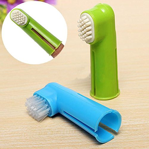 2X Soft Finger Toothbrush Pet Dog Cat Oral Dental Cleaning Teeth Care Brush (Halloween Finger Biscuits Uk)