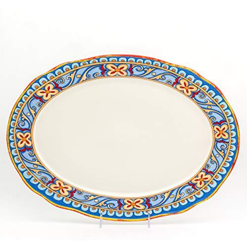 Italian Ceramic Platters - Euro Ceramica Duomo Collection Italian-Inspired 18
