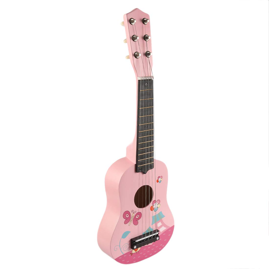 Yvsoo Gitarre Kinder 6 Saiten Echtes Metallic Instrument der Musik Ideal Geschenk fü r Kinder Anfä nger fü r Geburtstag, Weihnachten, Party