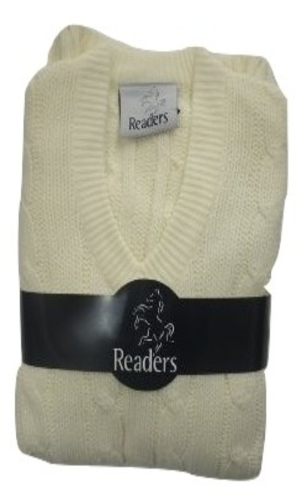 READERS PLAIN CRICKET SWEATER - MEDIUM D311T