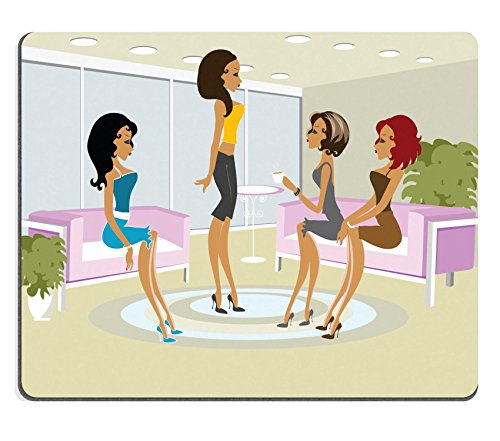 Luxlady Gaming Mousepad Mss Boo having fun with her friends IMAGE ID 2106355