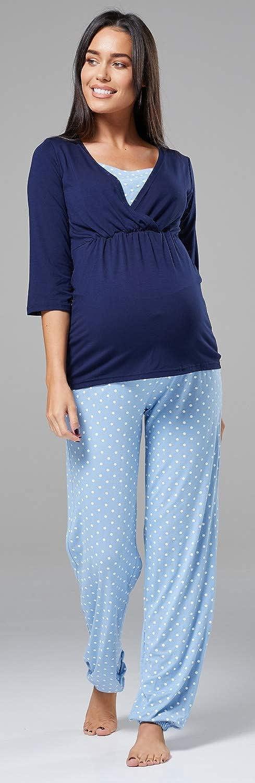 060c Womens Maternity Breastfeeding Layered Pyjamas Pregnancy Zeta Ville