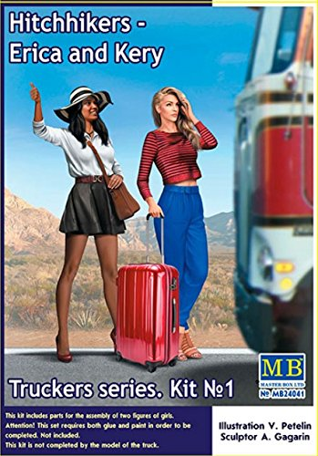 MASTER BOX 24041 1/24 SCALE MODEL KIT TRUCKERS SERIES HITCHHIKERS ERICA AND (Master Box Ltd)