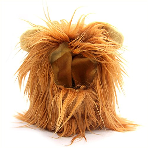 Costumes For Cats Lion (Cat and Small Dog Lion Mane Wig Costume Adorable Cute Fancy Dress for Halloween Christmas Easter Festival Party Activity (brown))