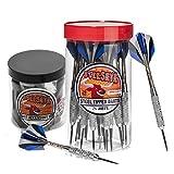 Bullseye Steel Tip Darts Bundle - 24 Pack of 21g Metal Tip Darts Plus Bullseye Dart Accessory Kit with 7 Essential Accessories Skill Levels