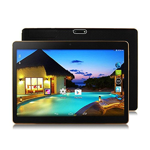 YDZB 2018 NEW Android Tablet 10 inch Octa Core 10 Inch Tablet PC Android 6.0 Octa Core 4GB RAM 64GB ROM Dual SIM 5.0MP GPS (black) by YDZB