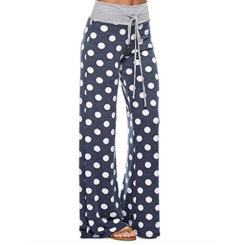 larghi Wide Leg Camouflage Juleya dot libero Blue Women per Print Green Pantaloni tempo il Pants Aa5Raq