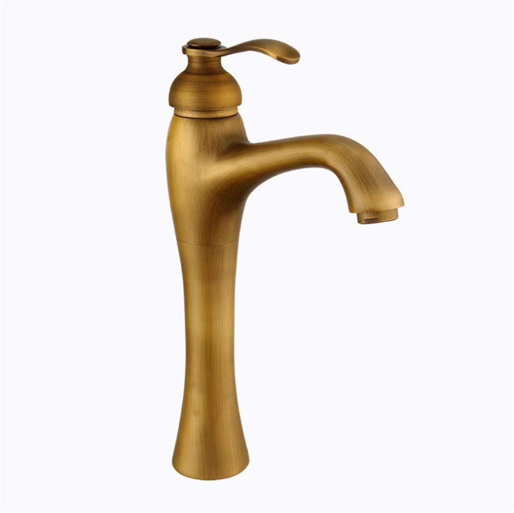 Edelstahl Einhand Wasserhähne Küche Wasserhahn Aus Kupfer Im Europäischen Stil Uraltes Plattform-Becken Kalt-Heißes Mischbatterie-Wc-Beckenhahn