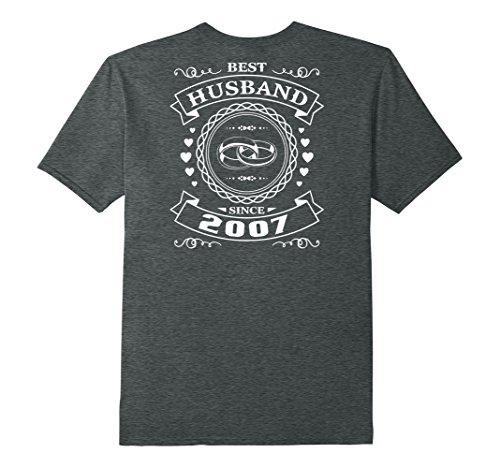 Mens Best Husband Since 10 Years Anniversary Gift For Him Shirt XL Dark Heather
