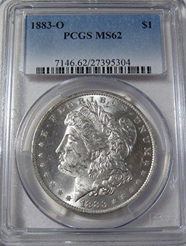 1883 O silver Morgan Dollar MS62 PCGS