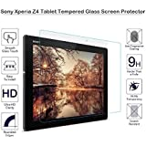 MOTONG Sony Xperia Z4 Tablet Tempered Glass Screen Protector, 9 H Hardness, 0.3mm Thickness,Made From Real Glass, Shatterproof