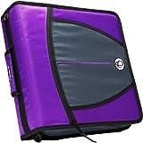 Case-it Locker 3-Inch Q-Ring Zipper Binder, Purple, Binder Shell Only, LKR-Q-03-PUR