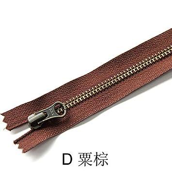 ERSHIJIU Metallo Bronzo Cerniera YKK 1pcs 5# Close-End Auto Lock Bag Fai da Te Borsa Boots zipppers Accessori for lAbbigliamento Color : A, Size : 18CM-5#