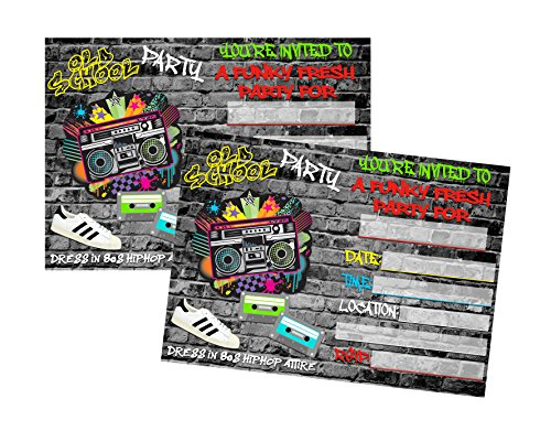 Hip Hop Graffiti 90s Themed Party Supply Decor (Invitation) -
