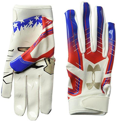 Galleon Under Armour Boys F6 Le Football Gloves White 100