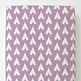 Carousel Designs Mauve and White Teepee Toddler Bed Sheet Fitted