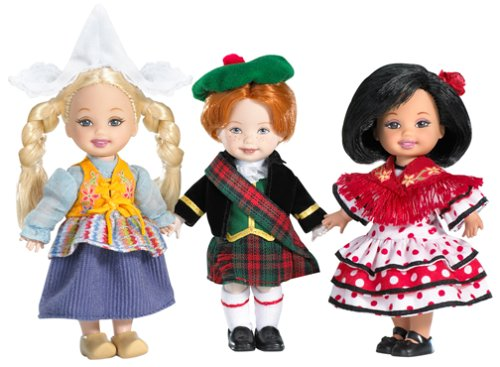 Mattel Kelly Doll and Friends of The World Dolls Gift Set