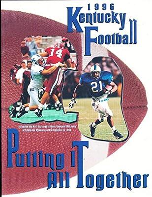 1996 University of Kentucky Football Media Guide bx111