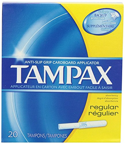 Tampax Cardboard Tampons (Tampax Tampons with Flushable Cardboard Applicator - Regular - 20 ct)