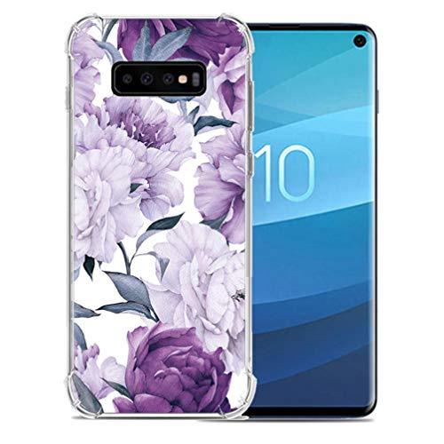 ANERNAI Compatible with Samsung Galaxy S10e 2019 Case, Ultra-Thin Pattern Design Soft Flexible TPU Shockproof Cute Anti-Scratch Cover Case (Purple -