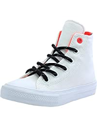 Converse Chuck Taylor All Star II Shield Canvas Junior White Textile Trainers