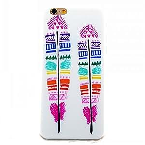 iPhone 6S caso, iPhone 6caso, WJTPUCASE [plumas de colores patrón] suave silicona Gel TPU protective case bumper [resistente a los arañazos] [ajuste perfecto] translúcido carcasa para 4,7iPhone 6S