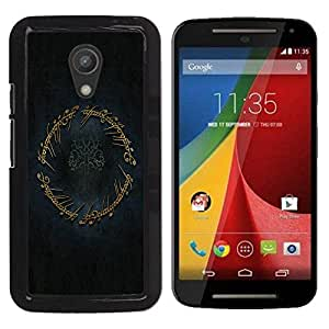 Paccase / SLIM PC / Aliminium Casa Carcasa Funda Case Cover para - The Ring - Motorola MOTO G 2ND GEN II
