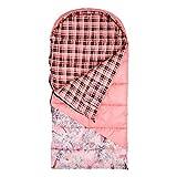 King's Hunter Junior +25-Degree Sleeping Bag, Pink/Pink Shadow Camo Accents