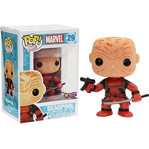 Funko Unmasked Deadpool [Red Suit] (PX Exclusive): Deadpool x POP! Marvel Vinyl Figure & 1 PET Plastic Graphical Protector Bundle [#029 / 03259 - B]