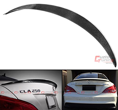 Cuztom Tuning Fits for 2013-2017 Mercedes Benz W117 CLA45 CLA250 CLA200 AMG Style Carbon Fiber Trunk Spoiler Wing ()