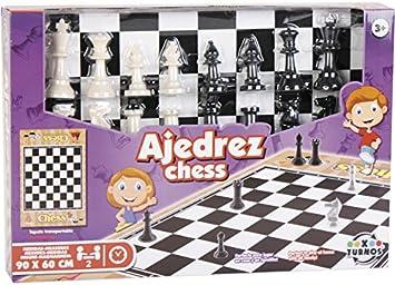 XTURNOS Ajedrez con Tapete 90x60 cm.: Amazon.es: Juguetes y juegos