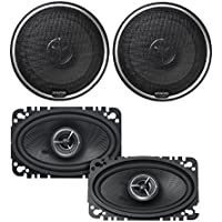 Kenwood KFC-X463C Excelon 4x6 2-Way Speaker System (Pair) Kenwood KFCX174 Excelon 80W RMS speakers