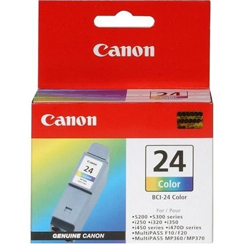 6 EACH: CANON BCI-24 INK CARTRIDGES - 5 TRICOLOR, 1 BLACK