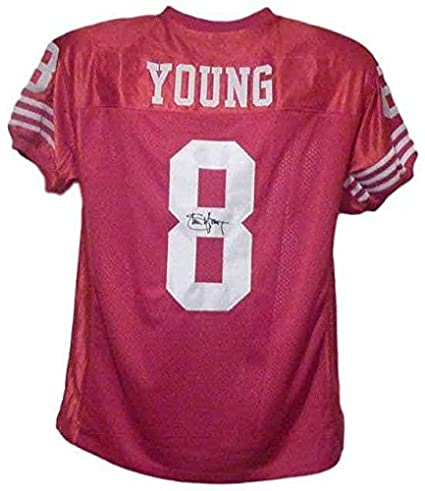 849a47907 Amazon.com: Steve Young Signed Jersey - Red Size Xl - Autographed NFL  Jerseys: Sports Collectibles