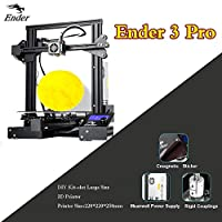 Ender 3 Pro 3D Printer 220x220x250mm with UL Certified Meanwell Power Supply and Upgrade Magnetic Build Surface Plate from Creality