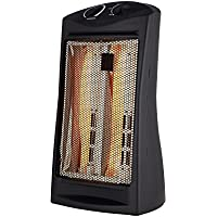 Konwin Large-Room Infrared Quartz Tower Indoor Heater Black 1500W TQH-06