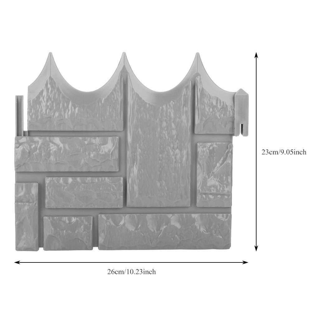 6 Unids Jardín Simulado Ladrillo Cemento Cerca Piedra Molde Flor de hormigón Patio Césped Mold Maker para Decoración: Amazon.es: Hogar