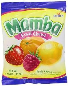Mamba Fruit Chews, 3.95-Ounce (Pack of 12)