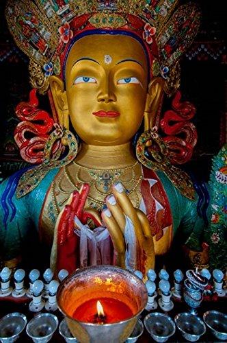 Maitreya Buddha at Thiksey Monastery Leh Ledakh India Poster Print by Ellen Clark (19 x 29)