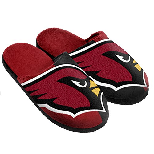 Cardinal Slippers - Arizona Cardinals Split Color Slide Slipper Large