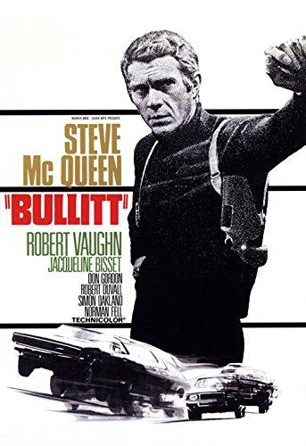 Chase Movie Poster - Bullitt Movie Poster, Car Chase, Steve McQueen, Dramatic Thriller