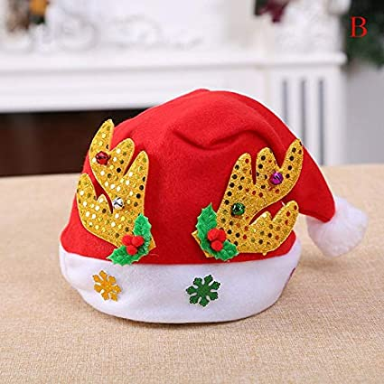 00b8d47be3b21 Cap Down - 27x40cm Red Hats Santa Children Women Men Boys Girls Cap Props  Ornaments Decoration - Cats Christmas Adults Women Light ...