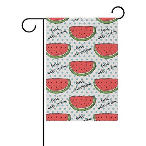 """LEISISI Hand Drawn Watermelon Pattern Garden flag 12""""X18"""" Tw"""